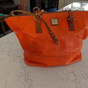 Dooney & Bourke Smooth Leather Tote - Tobi, Coral